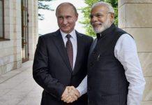 Prime Minister Narendra Modi meeting Vladimir Putin, at Sochi, Russia   PTI