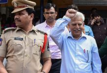 P Varavara Rao after his arrest by the Pune police in connection with the Bhima Koregaon case | PTI
