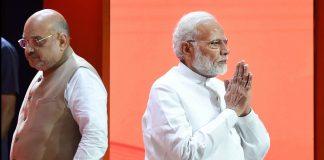 Prime Minister Narendra Modi and BJP President Amit Shah during BJP National Executive Meeting   PTI