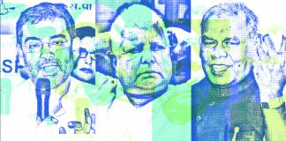 Upendra Kushwaha, Lalu Prasad Yadav and Jitan Ram Manjhi   ThePrint.in