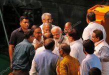 PM Modi at the traders's convention held in New Delhi, 19 April