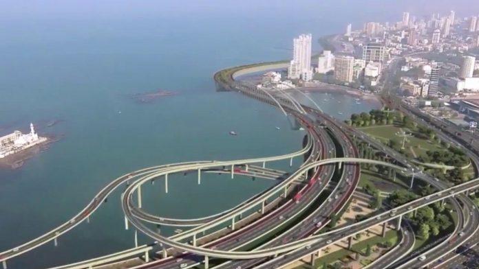 A model of the proposed Mumbai coastal road project | YouTube