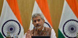 S Jaishankar at a press conference in New Delhi