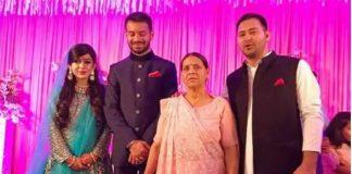 Aishwarya Rai (extreme left) with Tej Pratap Yadav, Rabri Devi and Tejashwi Yadav at her wedding | File Photo