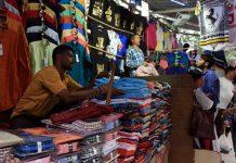 A shop at Janpath market in Delhi