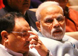 BJP chief JP Nadda and PM Narendra Modi at a parliamentary meeting | Photo: Praveen Jain | ThePrint