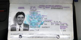 Passport of WSJ journalist Daniel Pearl, who was beheaded by his captors in 2002, on display at the now-closed Newseum in Washington DC | Flickr