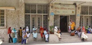 People wait at the Ahmedabad Civil Hospital | Praveen Jain | ThePrint