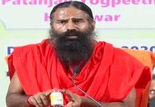 Baba Ramdev addresses the media during the launch of Corolin tablet for Coronavirus, in Haridwar on 23 June 2020 | ANI