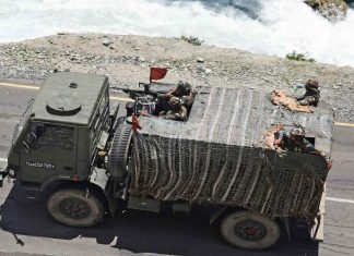 An Indian Army truck on a Kashmir highway leading to Ladakh | Representational image | ANI
