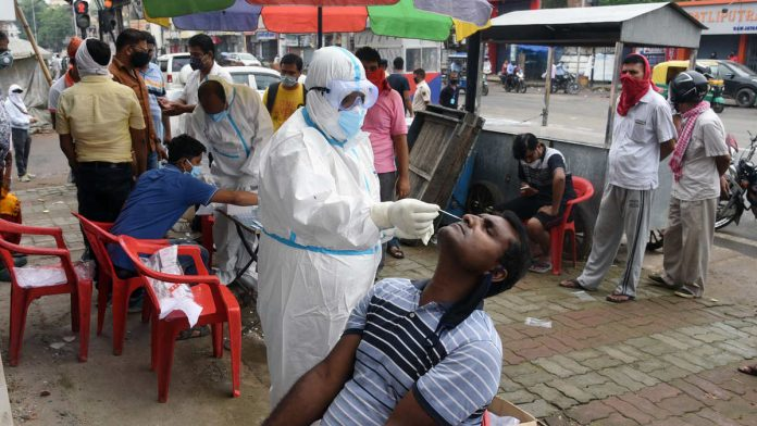 A Covid-19 testing camp in Patna | Representational image: ANI