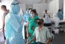 Covid-19 testing at the Ram Manohar Lohia Hospital, Delhi. | Photo: Manisha Mondal | ThePrint