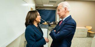 US Senator and Vice President nominee Kamala Harris with US Presidential candidate Joe Biden| Twitter/ Team Joe