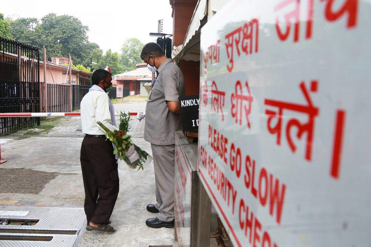 Except a few news agencies not media is allowed inside | Photo: Manisha Mondal | ThePrint