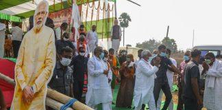 Bihar CM and JD(U) chief Nitish Kumar addresses a rally in Nalanda, Bihar on 27 October 2020 | Praveen Jain | ThePrint