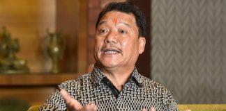 Gorkha Janamukti Morcha chief Bimal Gurung addresses a press conference in Kolkata on 21 October 2020 | Ashok Bhaumik | PTI