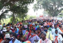 A BJP rally in Dubbaka ahead of the bypoll in the constituency | Twitter: @BJP4Telangana