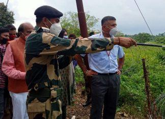 Indian envoy to Bangladesh Vikram Doraiswami in Tripura during his road trip to Dhaka earlier this month | Twitter | @VDoraiswami