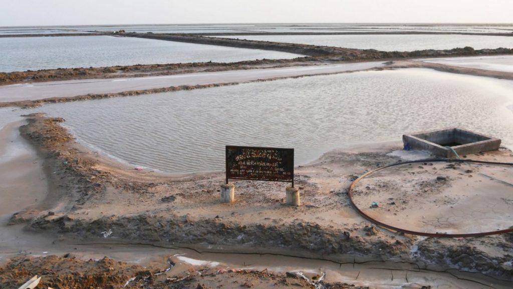 Salt pans full of water in Maliya, Morbi, Gujarat | Photo: Manisha Mondal | ThePrint