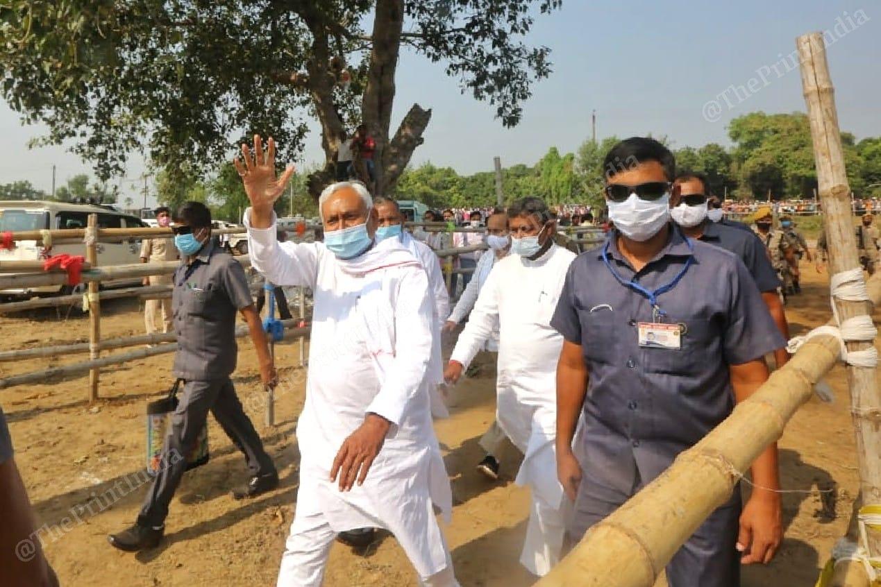 The Bihar CM in Nalanda, his home constituency | Photo: Praveen Jain | ThePrint