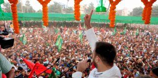 RJD leader Tejashwi Prasad Yadav during an election campaign rally at Masaurhi in Patna | PTI
