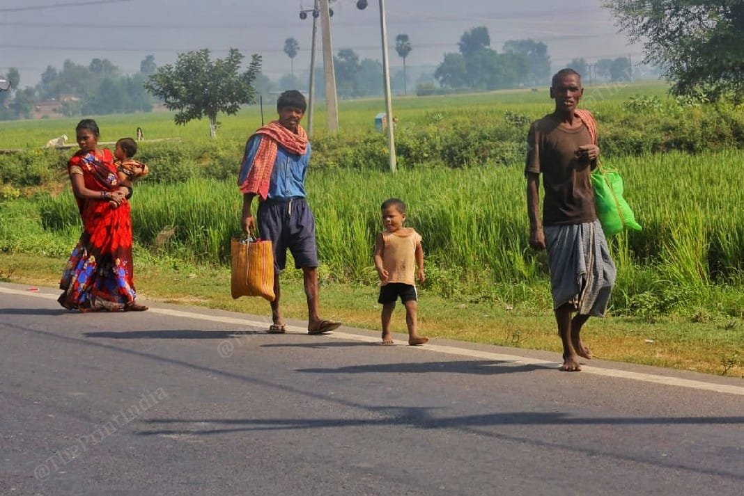 Villagers of Maharajpur village on their way to cast their votes | Praveen Jain | ThePrint