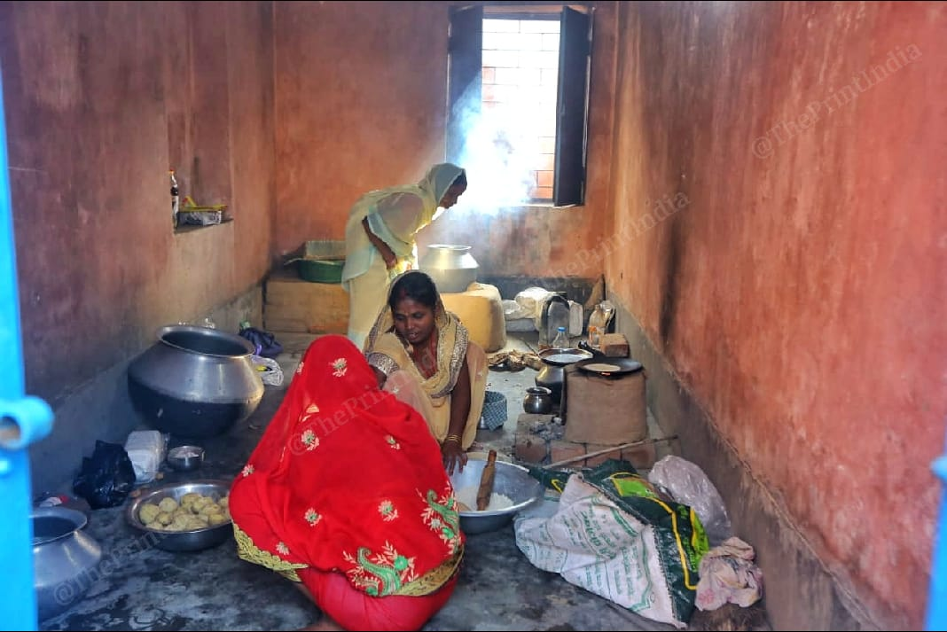 Women of near by villages cook meals for the polling officers in Rihhada Village | Praveen Jain | ThePrint