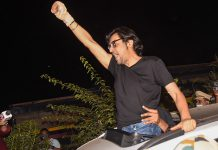 Arnab Goswami after being released from Taloja Central Jail in Navi Mumbai