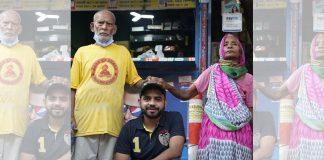 YouTuber Gaurava Wasan with Baba ka Dhaba owners Kanta Prasad and Badami Devi   Twitter   @gauravwasan08