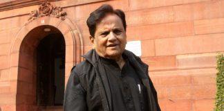File photo of Ahmed Patel at Parliament | Photo: Praveen Jain | ThePrint
