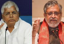 RJD chief Lalu Prasad Yadav (left) and former Bihar deputy CM Sushil Kumar Modi of the BJP | File photos: Wikipedia and PTI
