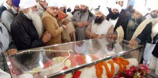 Followers attend Sant Baba Ram Singh's funeral at the Nanaksar Thath Gurudwara in Karnal Friday   Photo: Facebook   Sant Baba Ram Singh Ji