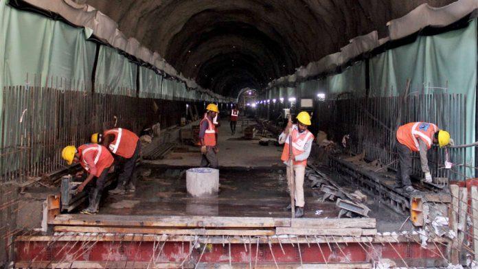 File image of underground tunneling work for Mumbai's Colaba-Bandra-Seepz or 'Metro 3' project   Photo: ANI