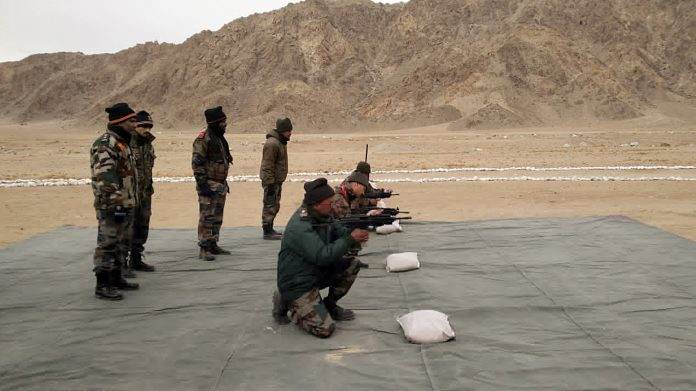 The defence ministry successfully tests the 5.56 x 30 mm Joint Venture Protective Carbine (JVPC) designed by DRDO on 10 December, 2020. | ANI