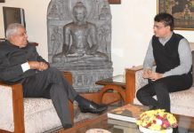 West Bengal Governor Jagdeep Dhankhar with BCCI chairperson Sourav Ganguly at Raj Bhavan Sunday | Twitter | @jdhankhar1