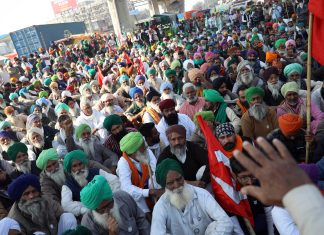 Farmers protesting at farm laws at Tikri Border in New Delhi on 28 November | ANI File Photo