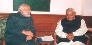 File photo of PM Narendra Modi with former PM Atal Bihari Vajpayee   Narendra Modi/Facebook