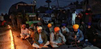 Farmers protest at the Haryana-Delhi border at Singhu | Photo: Manisha Mondal | ThePrint
