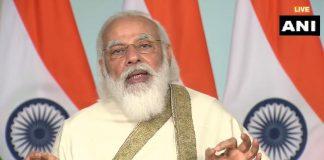 Prime Minister Narendra Modi addresses the centenary celebrations of the Aligarh Muslim Univeristy (AMU) through video conferencing | ANI