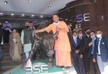 Uttar Pradesh CM Yogi Adityanath at the BSE in Mumbai on 2 December