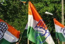 Representational image of Congress flags | Photo: Suraj Singh Bisht | ThePrint