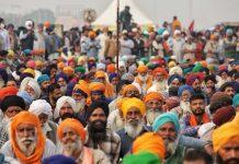Farmers protesting at Singhu border | Photo: Manisha Mondal ThePrint