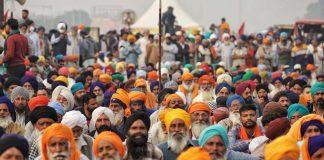 Farmers protesting at Singhu border   Photo: Manisha Mondal ThePrint