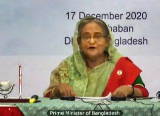 Bangladesh Prime Minister Sheikh Hasina addresses the India-Bangladesh virtual summit on 17 December, 2020. | PTI