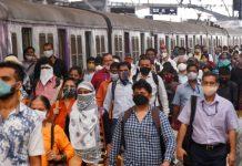 Crowds returned as local trains in Mumbai resumed for the general public, at Chhatrapati Shivaji Maharaj Terminal, on 1 February.   Photo: ANI