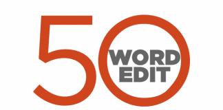 50 word edit logo