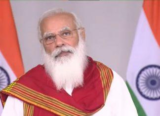 Prime Minister Narendra Modi speaking at the Vesak Day programme, on 26 May 2021   PTI