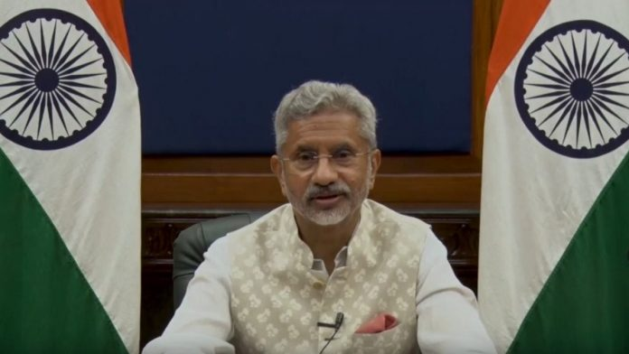 External Affairs Minister S Jaishankar virtually addressing the inaugural session of 16th CII-EXIM Bank Conclave on India and Africa Project Partnership, on 13 July 2021   Twitter/@DrSJaishankar