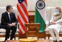 US Secretary of State Antony J. Blinken (left) with Prime Minister Narendra Modi Wednesday | Photo: Twitter/@narendramodi