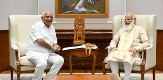 Karnataka chief minister BS Yediyurappa with PM Narendra Modi in New Delhi, on 16 July 2021 | Twitter/@ANI
